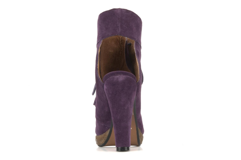 Stiefeletten & Boots Friis & company Belinda lila ansicht von hinten
