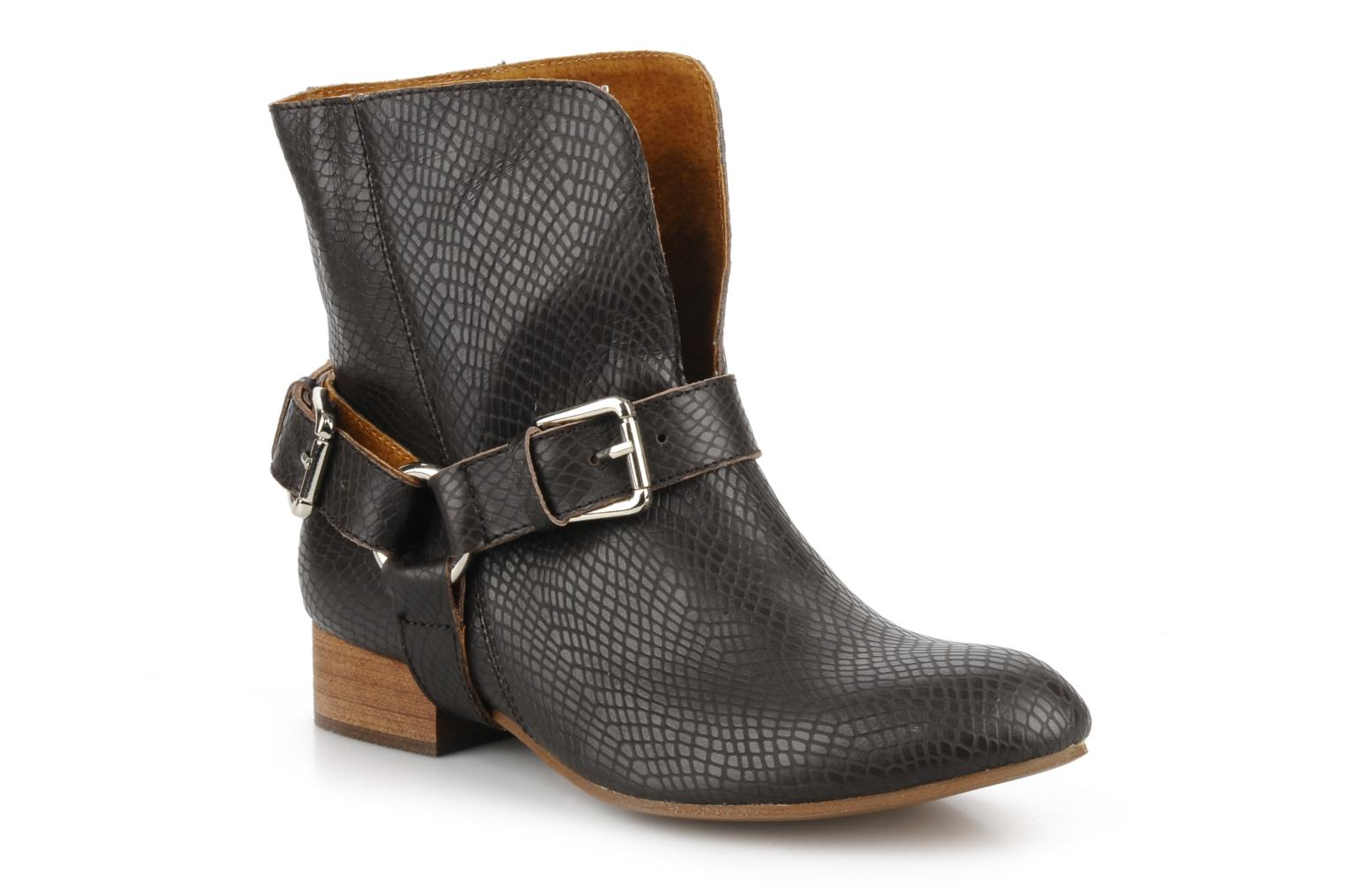 Ankle boots Friis & company Beaneth Brown detailed view/ Pair view