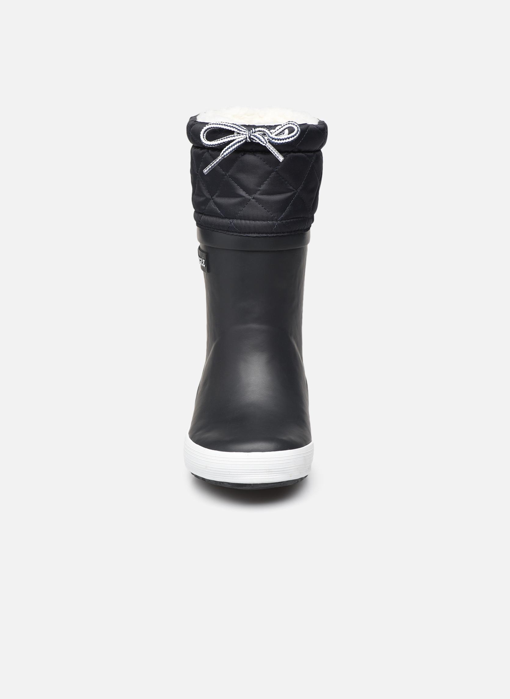 Bottes Aigle Giboulée Bleu vue portées chaussures