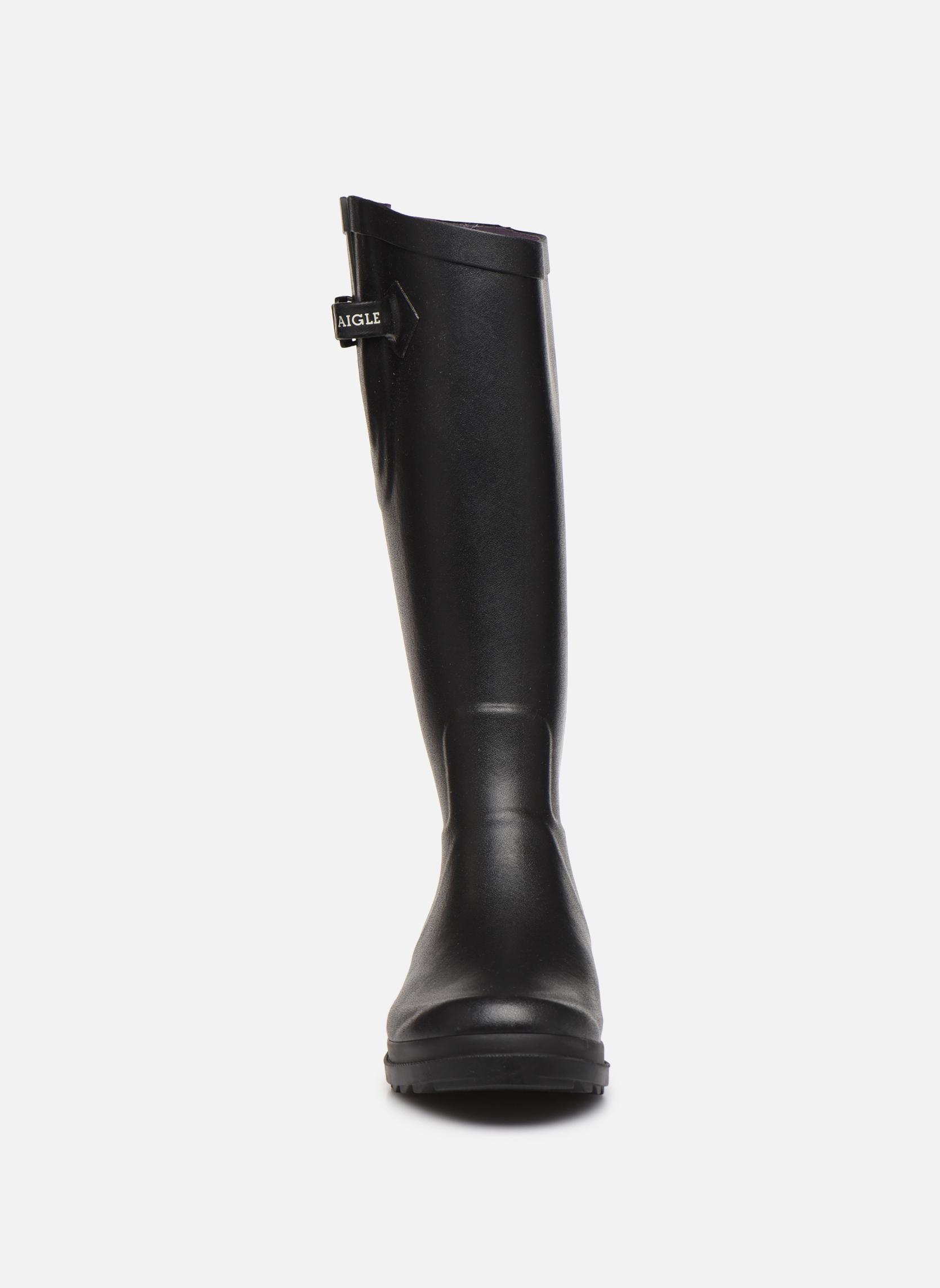 Stiefel Aigle Aiglentine schwarz schuhe getragen