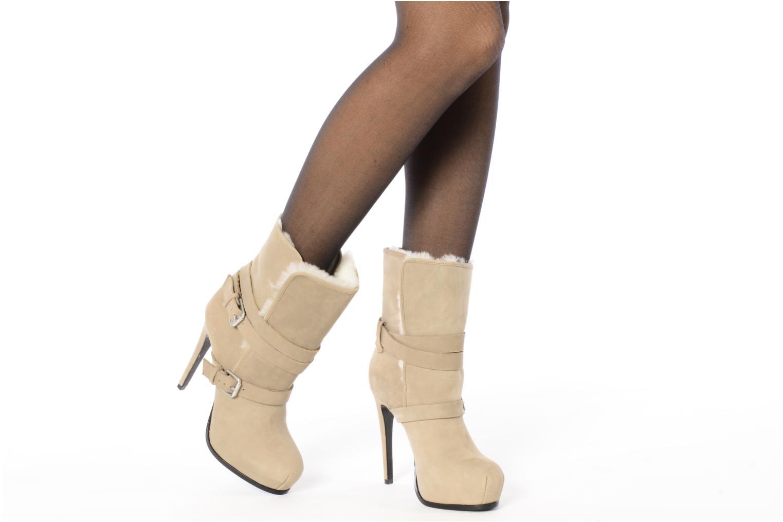 Bottines et boots Pour La Victoire Lizzie Beige vue bas / vue portée sac