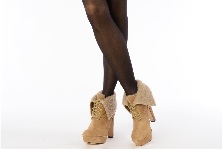 Bottines et boots Pour La Victoire Aileen Beige vue bas / vue portée sac