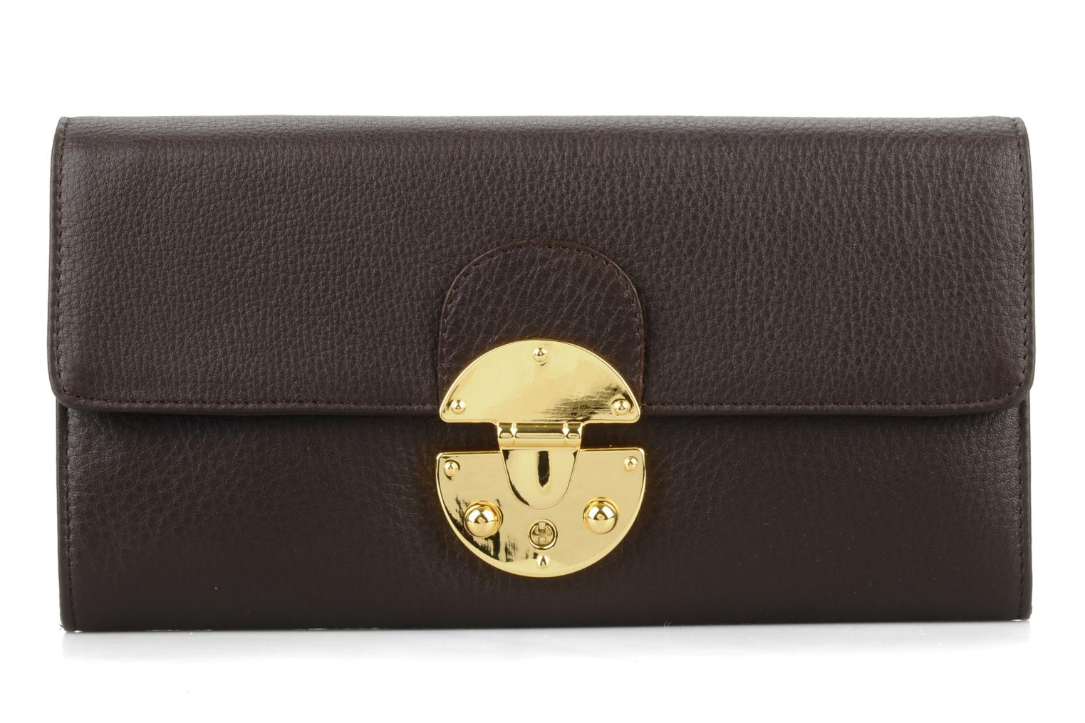 Rose Chocolate grained leather