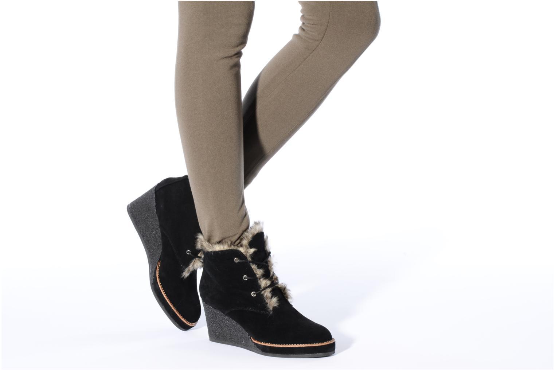 Bottines et boots No Name New aki crepe desert botte Noir vue bas / vue portée sac