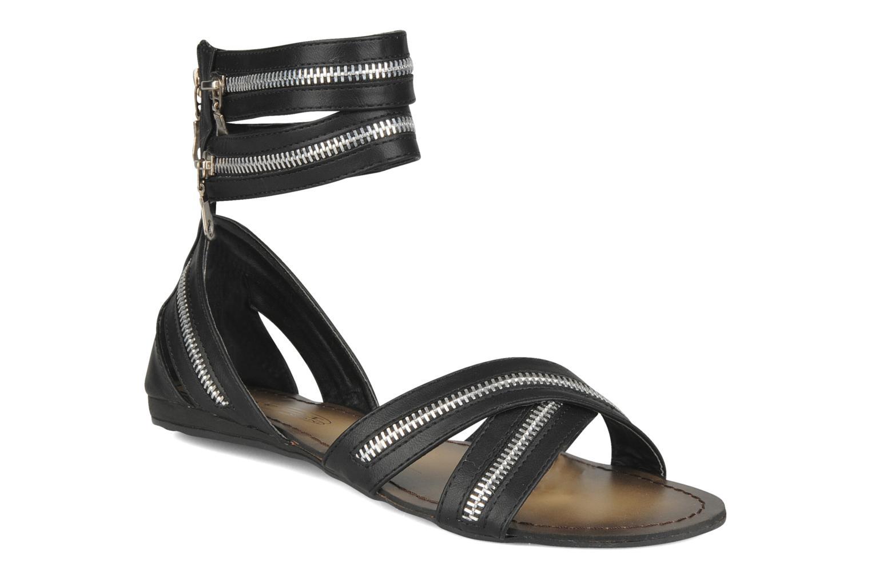 Sandalen Spot On Oli Zwart detail