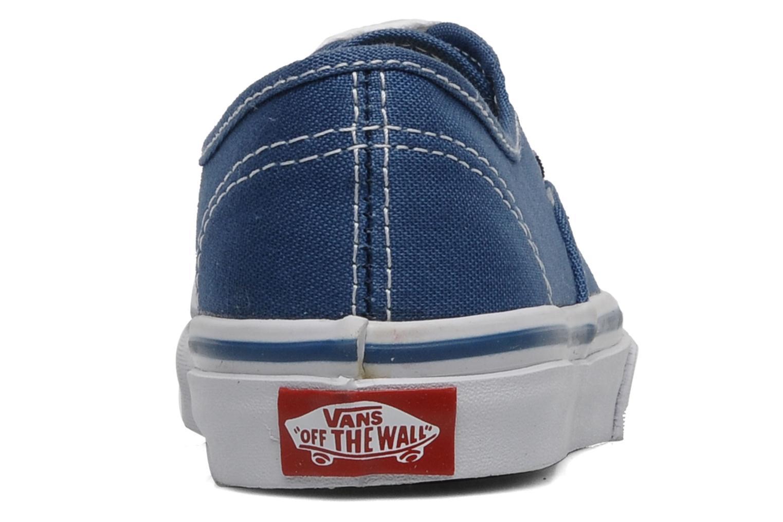 Baskets Vans Authentic E Bleu vue droite