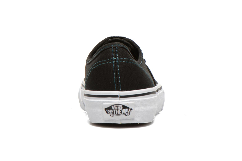 Sneakers Vans Authentic E Zwart rechts