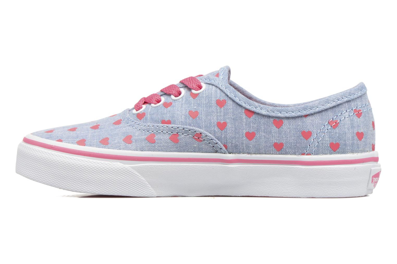 Baskets Vans Authentic E Bleu vue face