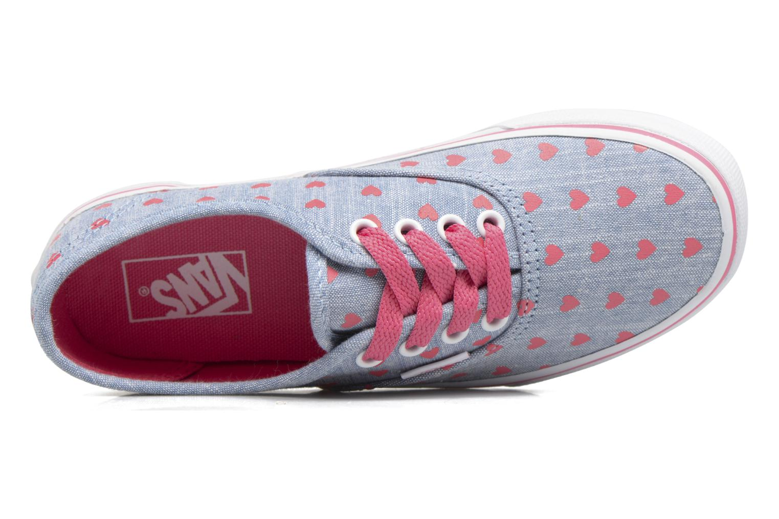 Baskets Vans Authentic E Bleu vue gauche