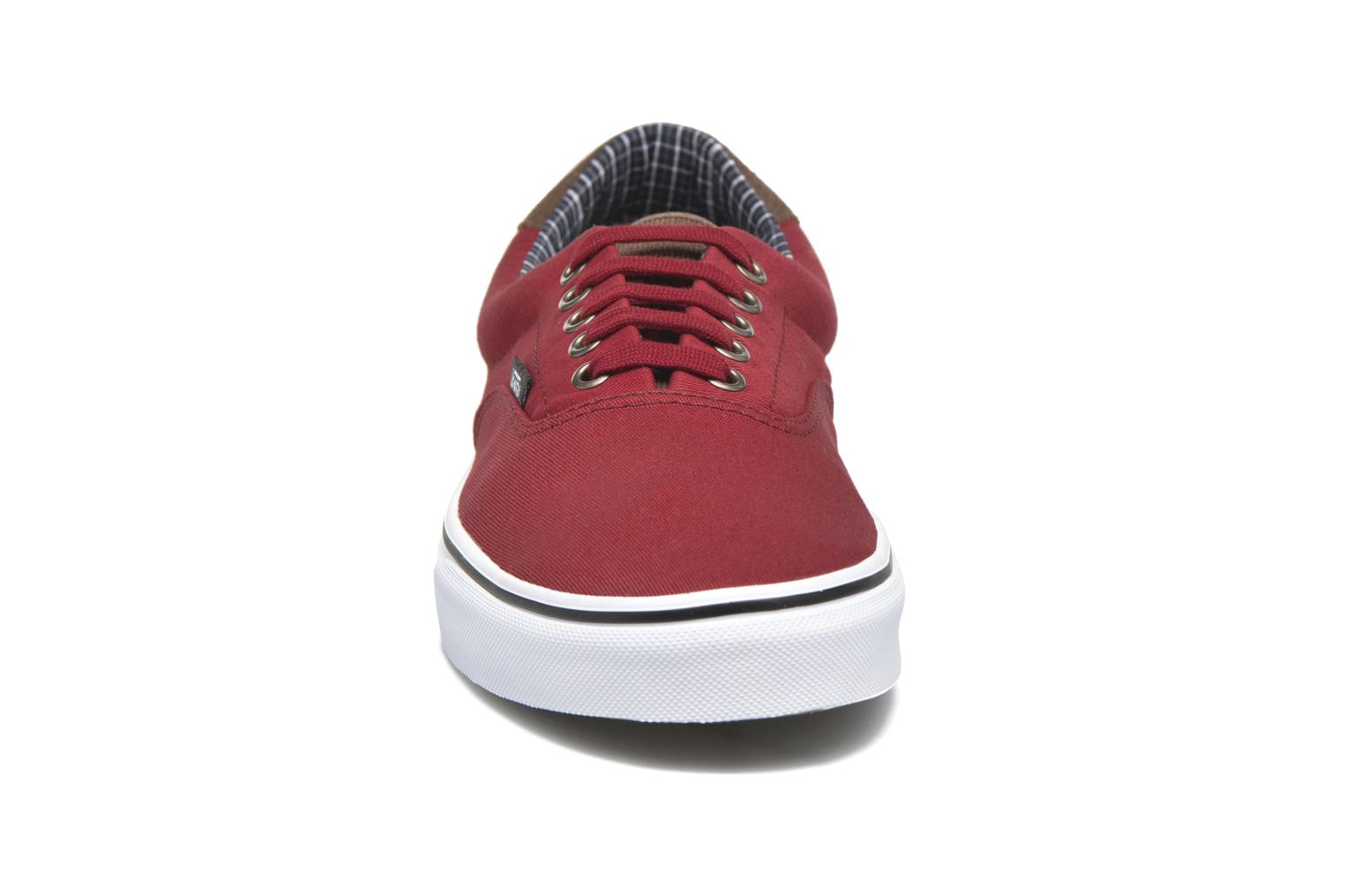 Era 59 (Cord & Plaid) Red Dahlia/True White
