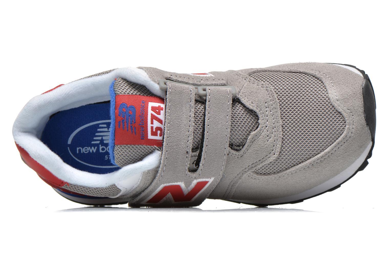 Sneaker New Balance Kv574NEI grau ansicht von links