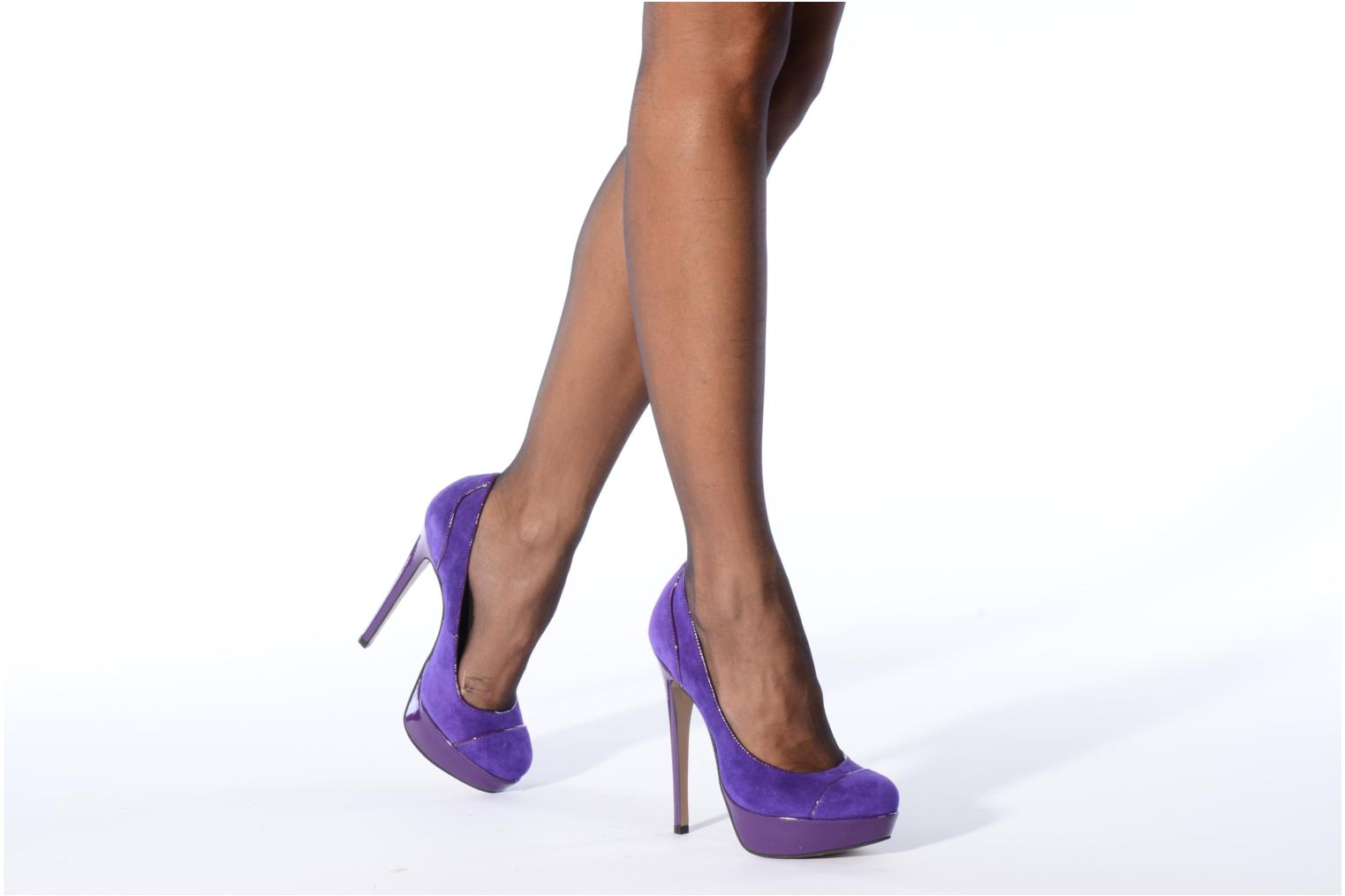 High heels Carvela Alma Purple view from underneath / model view