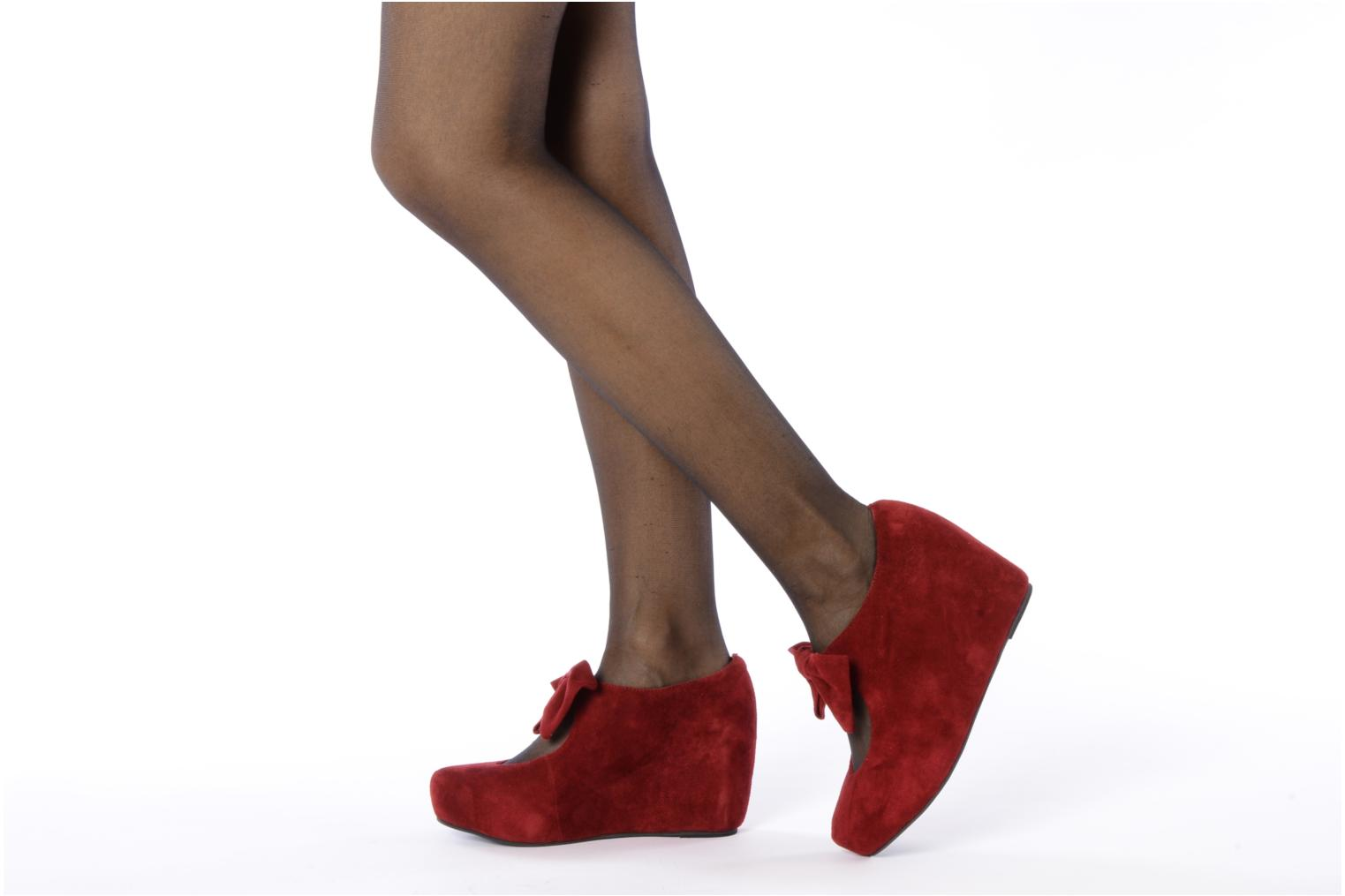 High heels Jeffrey Campbell Papillon Burgundy view from underneath / model view