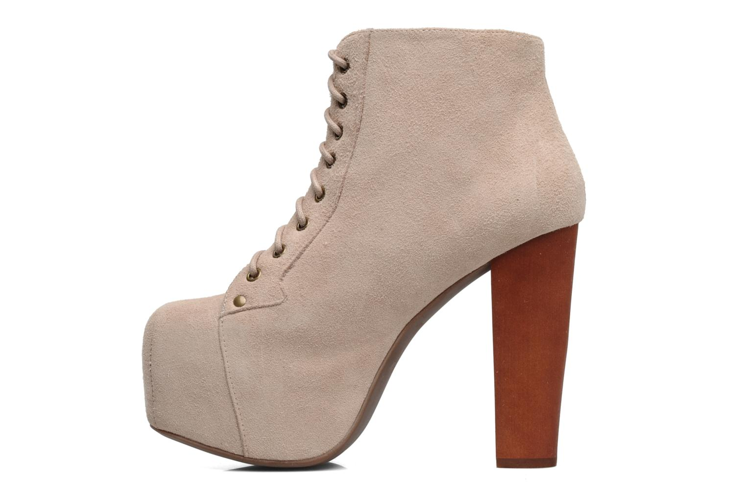 Ankle boots Jeffrey Campbell Lita Beige front view