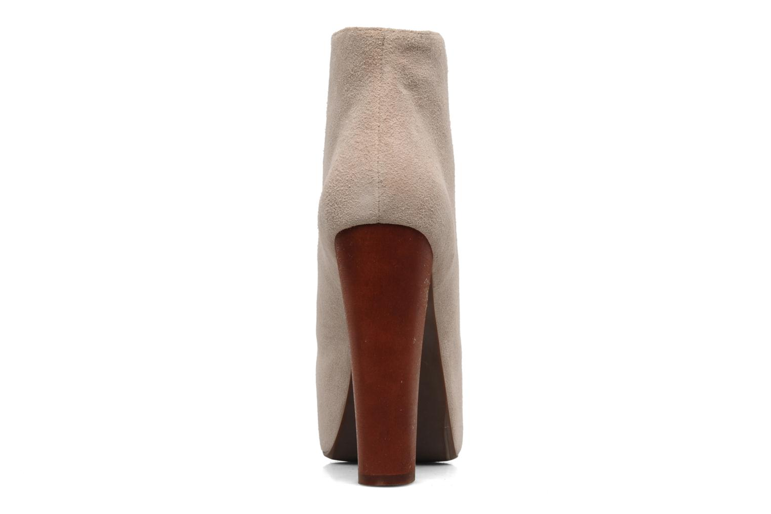Ankle boots Jeffrey Campbell Lita Beige view from the right