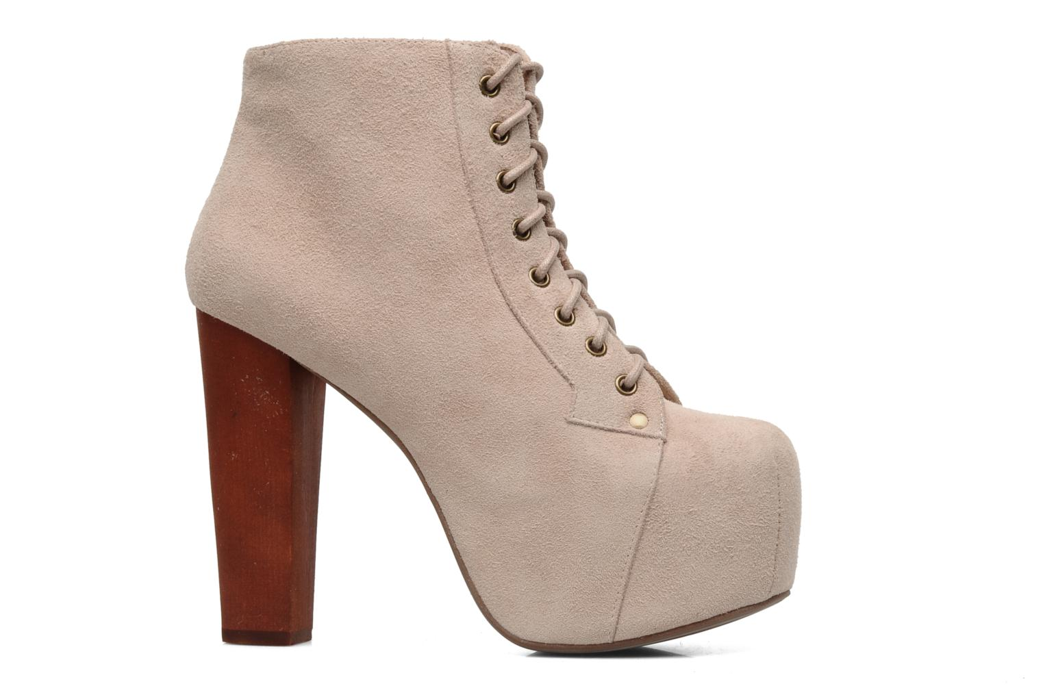 Ankle boots Jeffrey Campbell Lita Beige back view