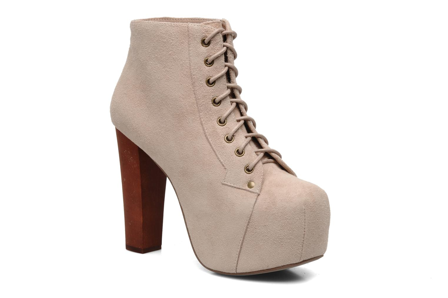 Ankle boots Jeffrey Campbell Lita Beige detailed view/ Pair view