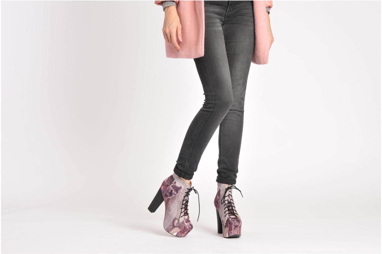 Ankle boots Jeffrey Campbell Lita Green view from underneath / model view