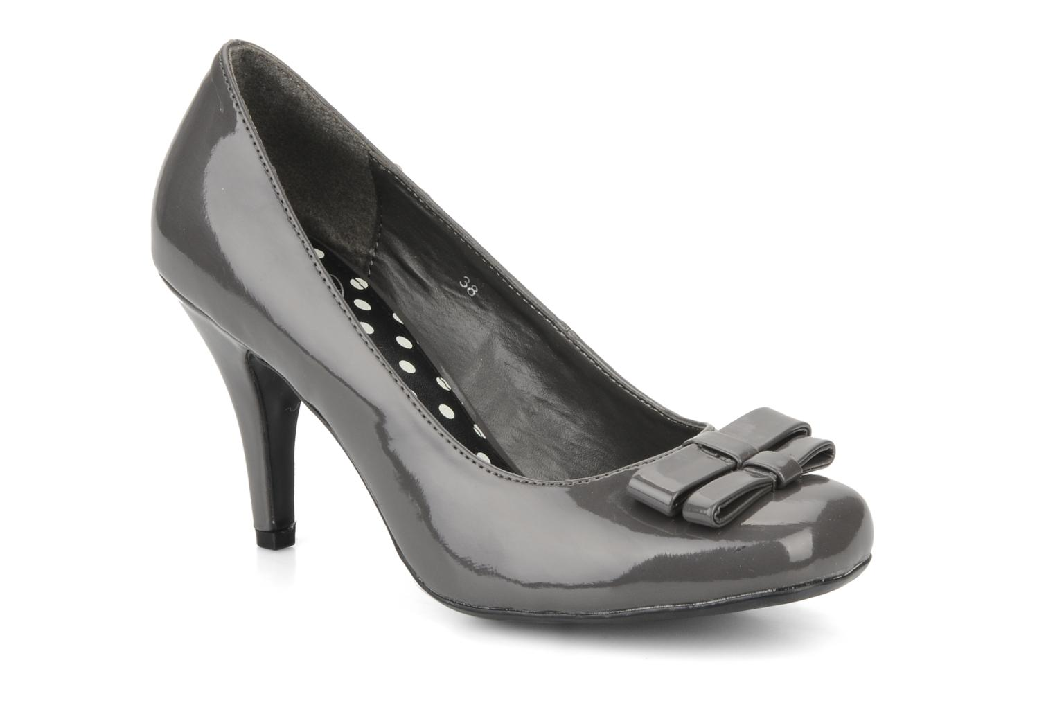 High heels I Love Shoes Woolver Grey detailed view/ Pair view