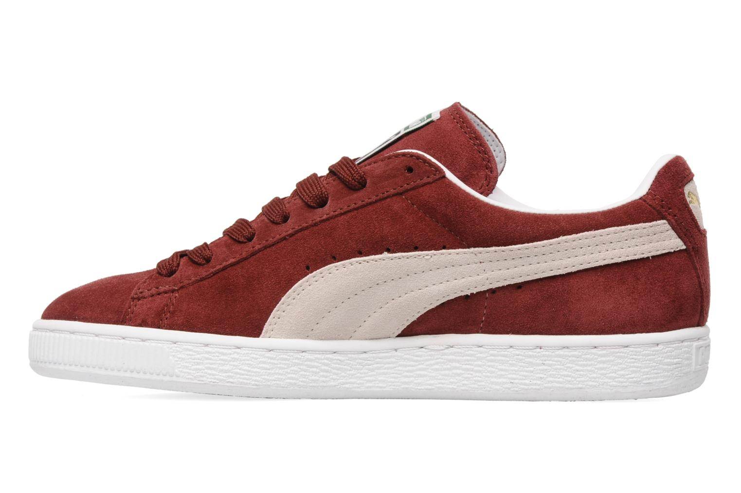 Trainers Puma Suede Classic + Burgundy front view