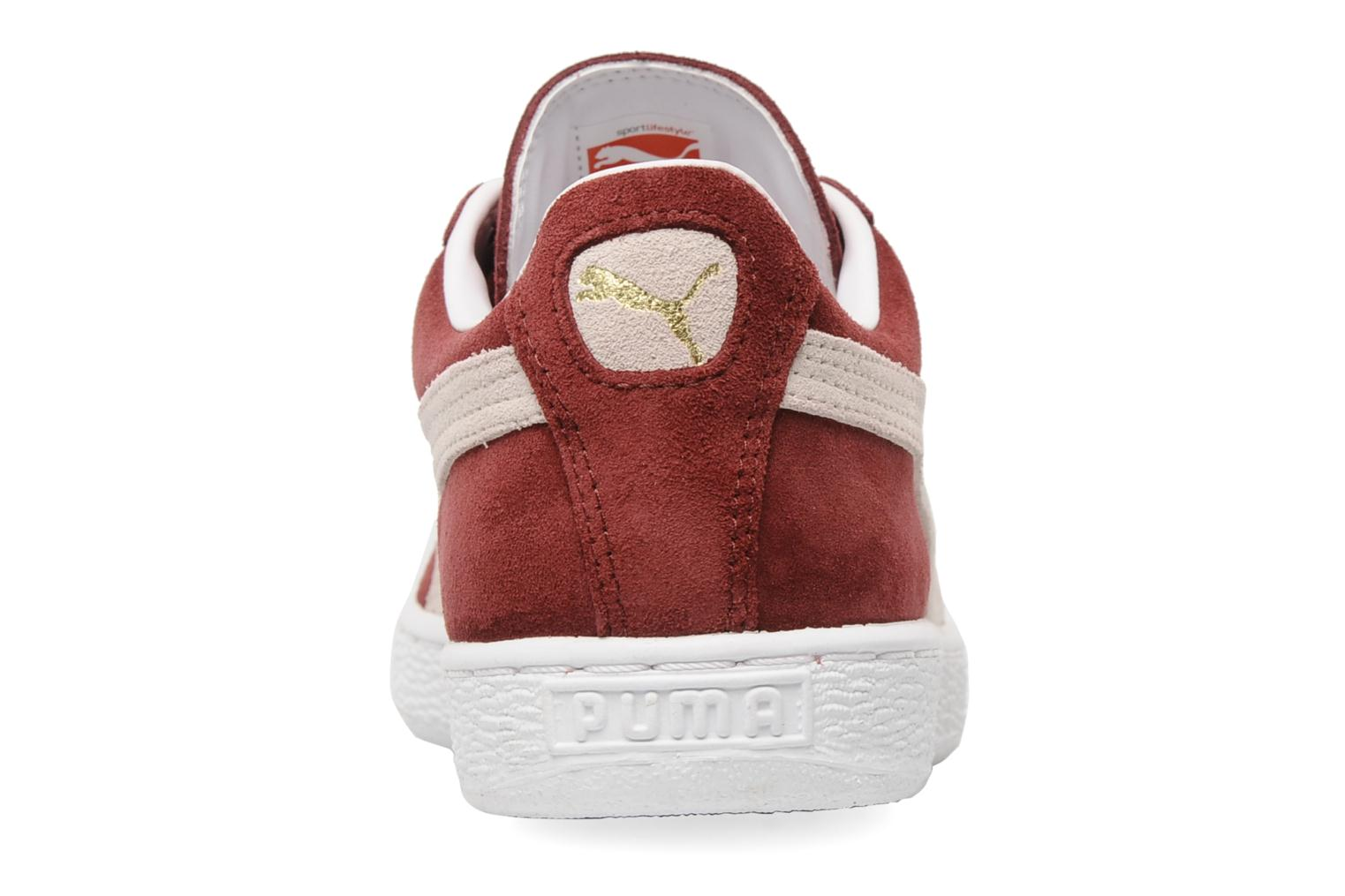 Trainers Puma Suede Classic + Burgundy view from the right