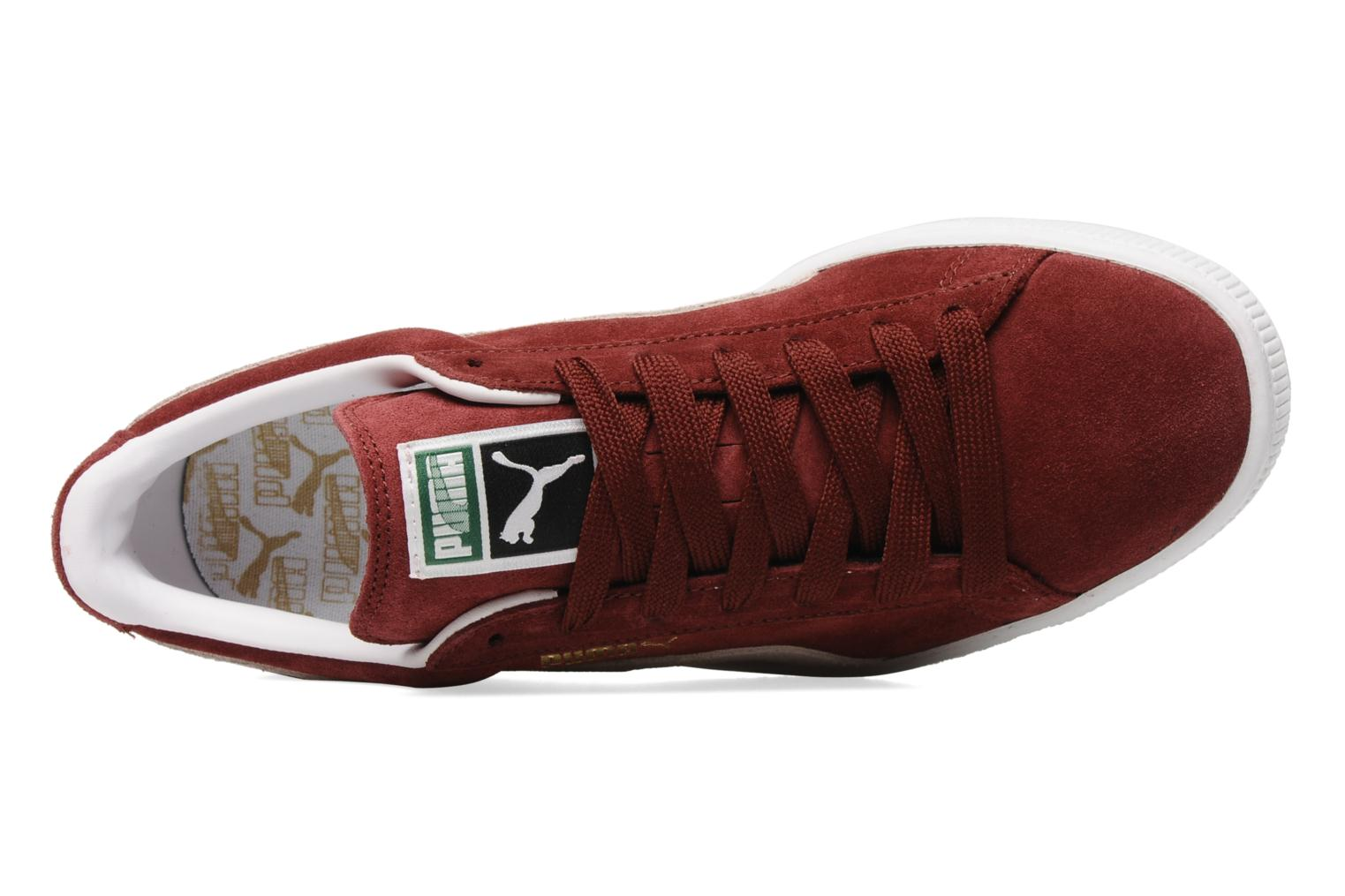 Suede Classic + Cabernet-White