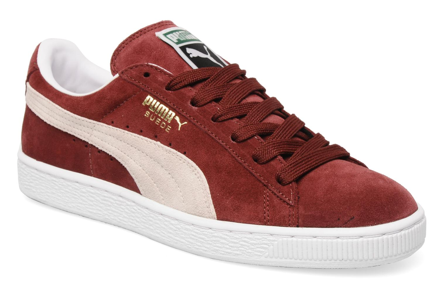 Trainers Puma Suede Classic + Burgundy detailed view/ Pair view