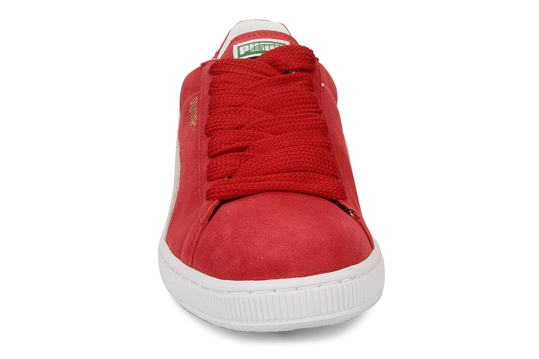 Baskets Puma Suede Classic + Rouge vue portées chaussures