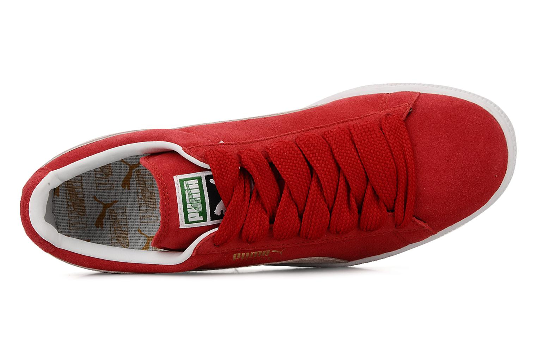 Baskets Puma Suede Classic + Rouge vue gauche