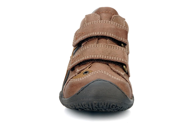 Chaussures à scratch Primigi Bartolom Marron vue portées chaussures