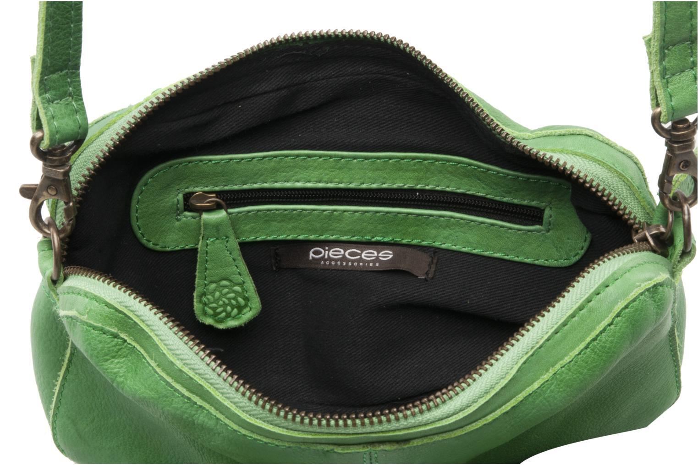 Pochette Pieces Pernille leather crossover Verde immagine posteriore