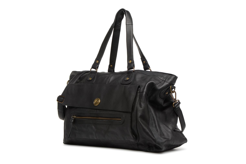 Totally Royal leather Travel bag Black