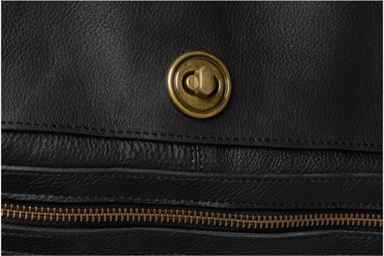 Sacs à main Pieces Totally Royal leather Travel bag Noir vue gauche