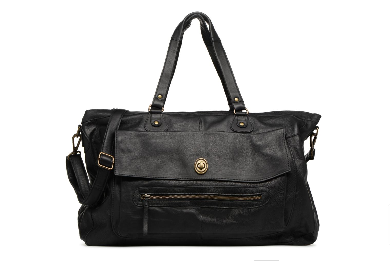 Handtaschen Pieces Totally Royal leather Travel bag schwarz detaillierte ansicht/modell
