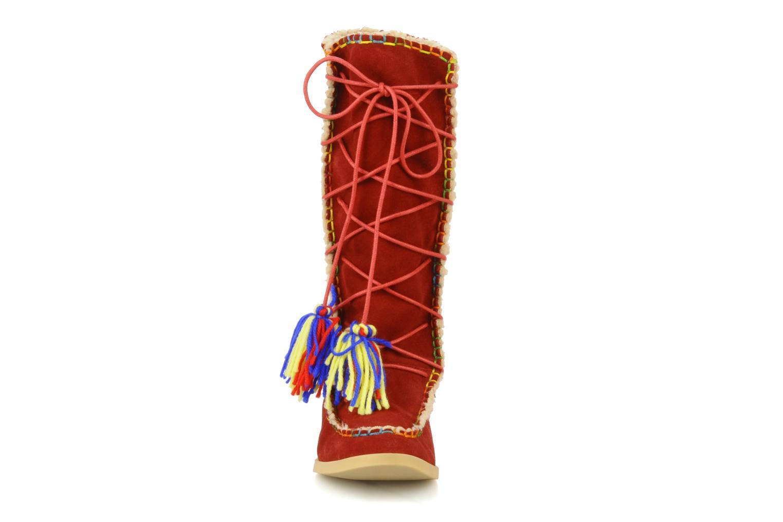 Bottes Mellow Yellow Kenou Rouge vue portées chaussures