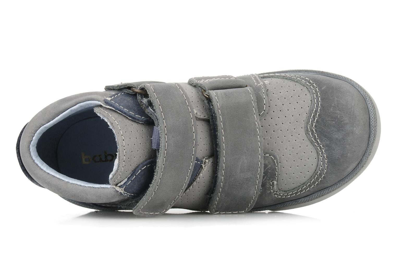 Zapatos con velcro Babybotte Ari Gris vista lateral izquierda