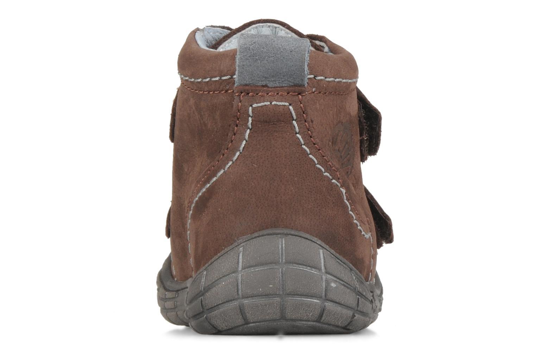 Zapatos con velcro Babybotte Axyon Marrón vista lateral derecha