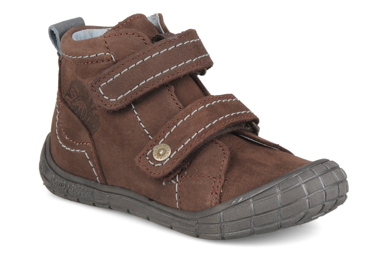 Chaussures à scratch Babybotte Axyon Marron vue détail/paire