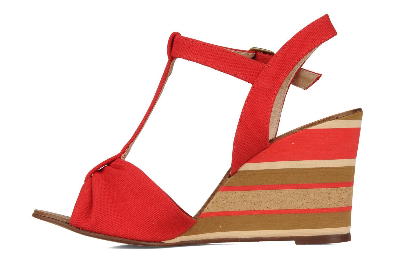 Sandales et nu-pieds Georgia Rose Dayana Rouge vue face