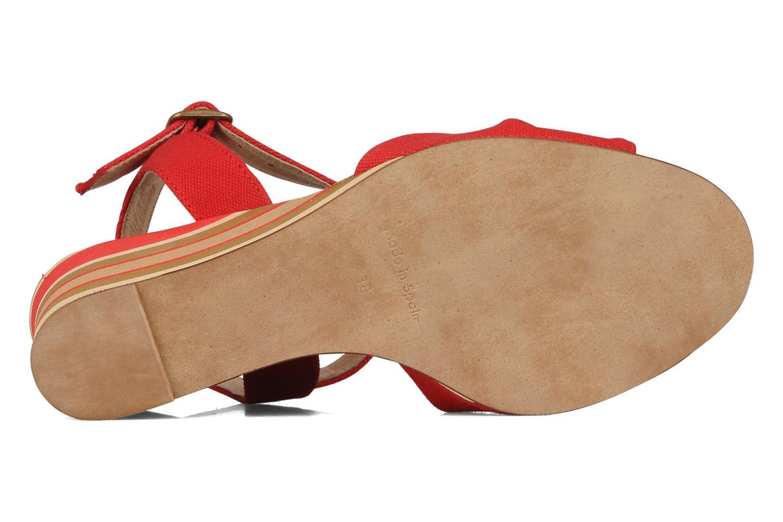 Sandales et nu-pieds Georgia Rose Dayana Rouge vue haut