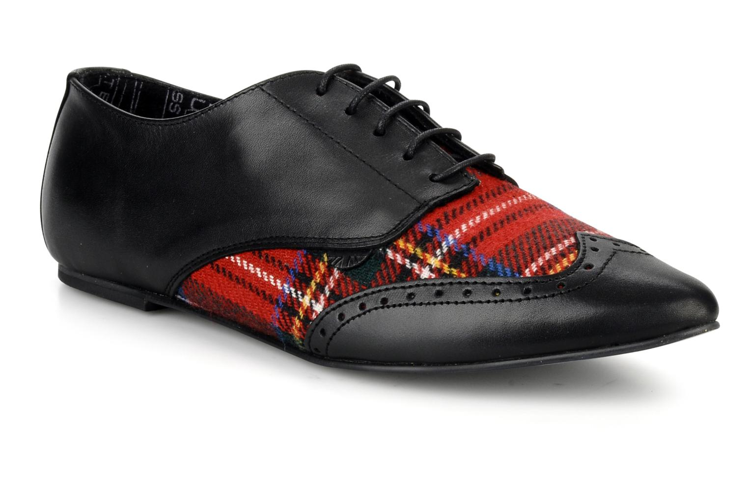 Lace-up shoes Underground Penny Black detailed view/ Pair view