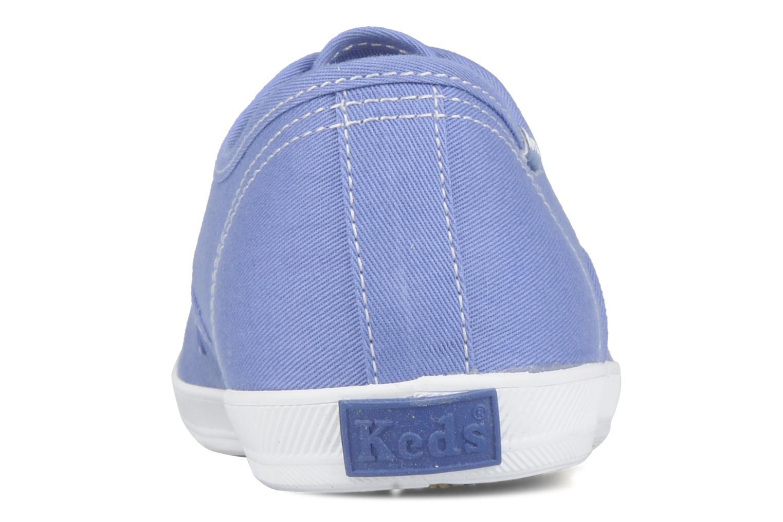 Sneaker Keds Champion washed canvas blau ansicht von rechts