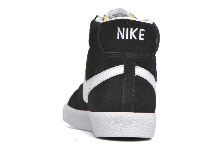 Sneakers Nike Blazer mid prm Zwart rechts