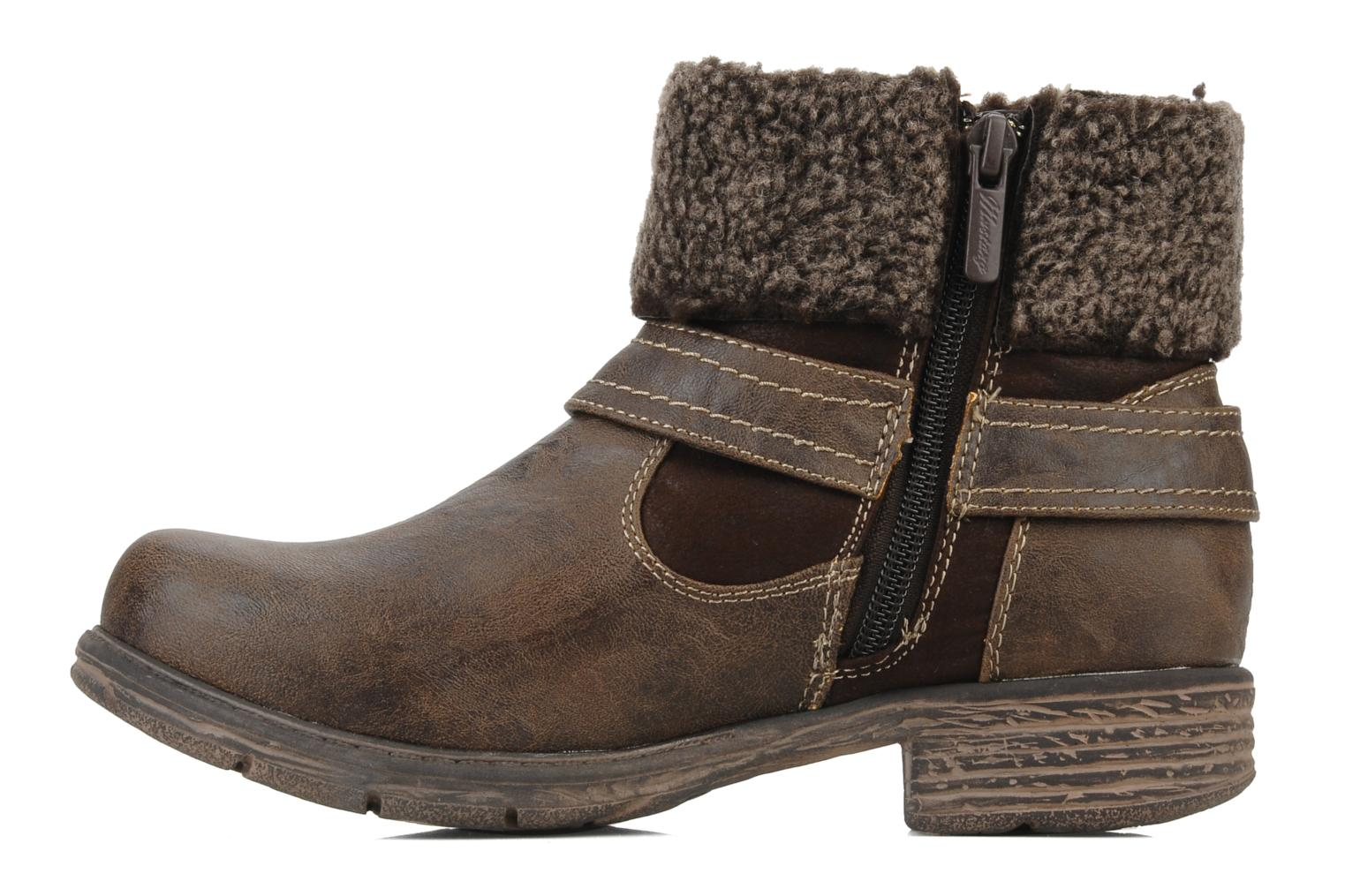 Ankle boots Mustang shoes Rato Brown front view