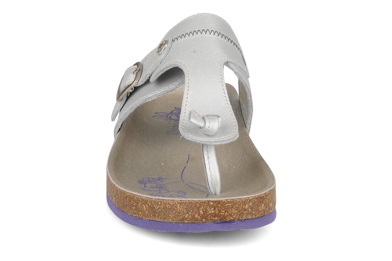 Tongs chipie bis Busty Argent vue portées chaussures