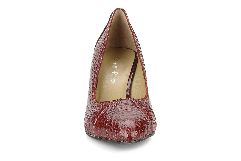 High heels Georgia Rose Hoba Burgundy model view
