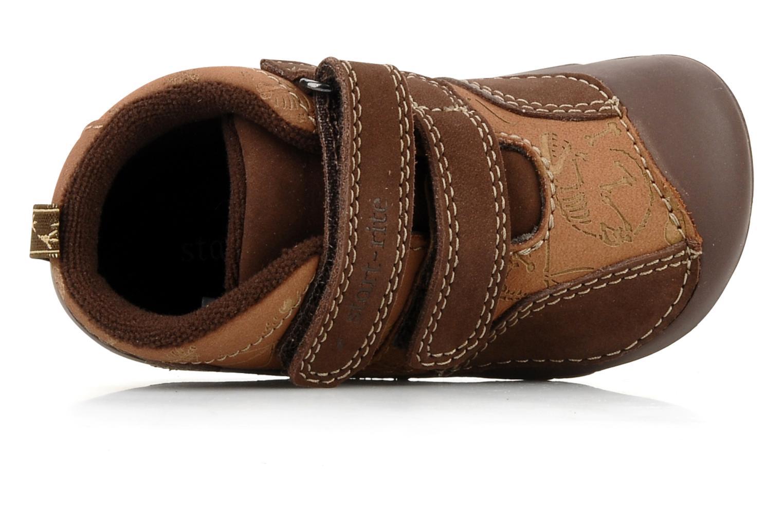 Chaussures à scratch Start Rite Fossil Marron vue gauche
