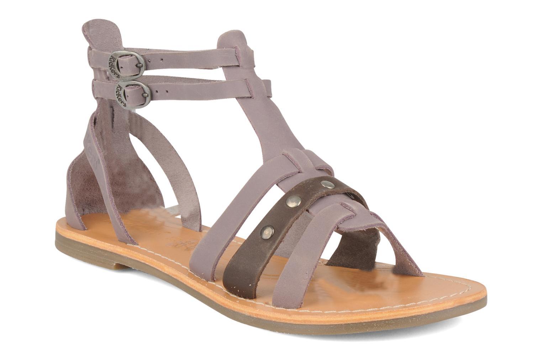 Sandales et nu-pieds Kickers Diplomatik Violet vue détail/paire
