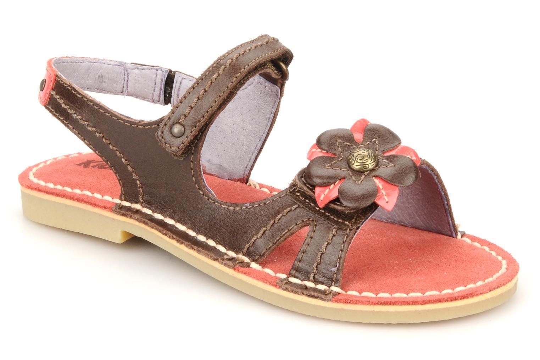 Sandales et nu-pieds Kickers Kostaki Marron vue détail/paire