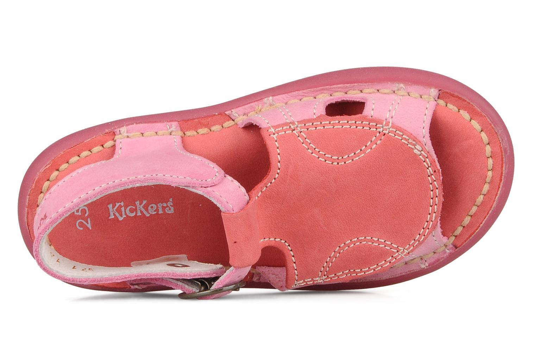Sandales et nu-pieds Kickers Mitsy Rose vue gauche